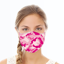 Pink Camoflauge Reusable Cloth Face Mask