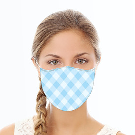 Blue Plaid Reusable Cloth Face Mask