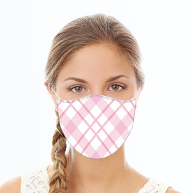Pink Plaid Reusable Cloth Face Mask
