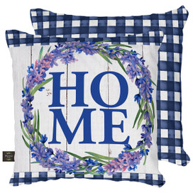Lavender Home Spring Decorative Pillow