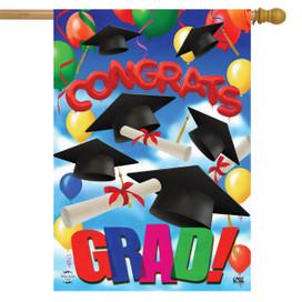 Congrats Graduation House Flag