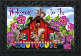 Spring Nuthouse Squirrels Doormat