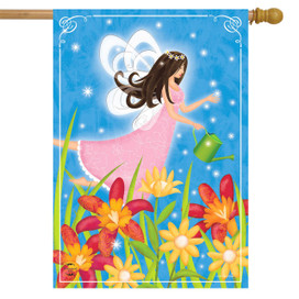 Garden Fairy Spring House Flag