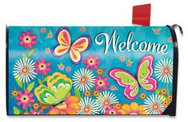 Butterfly Garden Spring Mailbox Cover