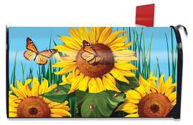 Sunflower Field Summer Mailbox Cover