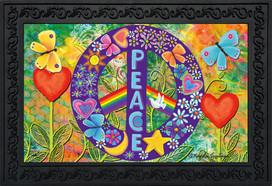 Peace Floral Doormat
