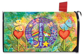 Peace Floral Mailbox Cover