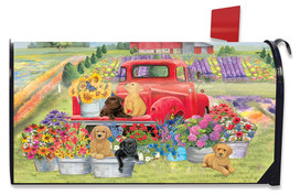 Spring Day Puppies Mailbox Cover