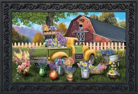 Flower Barn Spring Doormat