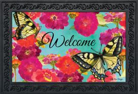 Morning Butterflies Spring Doormat