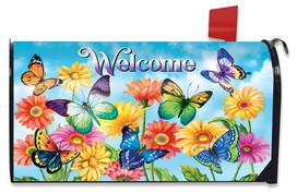 Fluttering Butterflies Mailbox Cover