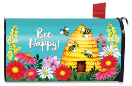 Bee Happy Hive Spring Mailbox Cover