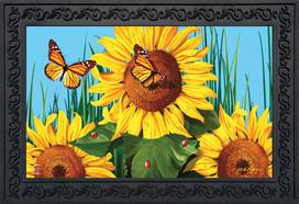 Sunflower Field Summer Doormat