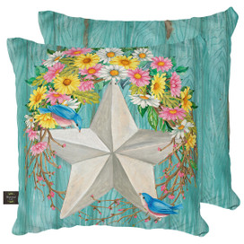 Spring Barnstar Primitive Decorative Pillow
