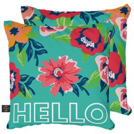 Hello Floral Spring Decorative Pillow