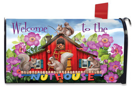 Spring Nuthouse Squirrels Mailbox Cover