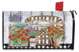 Faith and Family Farmhouse Spring Mailbox Cover