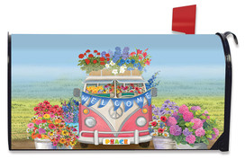 Peace Van Floral Mailbox Cover
