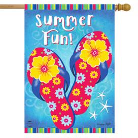Summer Fun Flip Flops House Flag