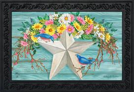Spring Barnstar Primitive Doormat