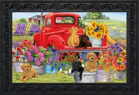 Spring Day Puppies Doormat