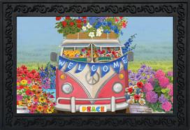 Peace Van Floral Doormat
