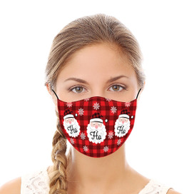 Ho Ho Ho Santa Reusable Cloth Face Mask