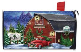 Christmas Tree Farm Pickup Mailbox Cover