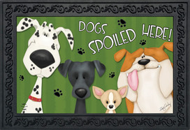 Spoiled Dogs Fall Doormat