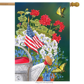 American Garden Summer House Flag