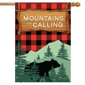 The Mountains Are Calling Summer House Flag