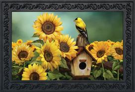 Goldfinch and Sunflowers Summer Doormat