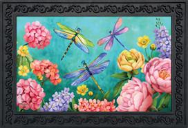 Dragonfly Garden Spring Doormat