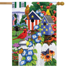 American Garden Birds Summer House Flag
