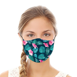 Tropical Floral Reusable Cloth Face Mask