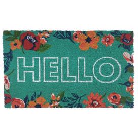 Hello Spring Natural Fiber Coir Doormat