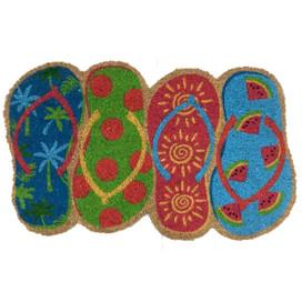 Flip Flops Summer Natural Fiber Coir Doormat