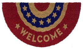Patriotic Bunting Natural Fiber Coir Doormat