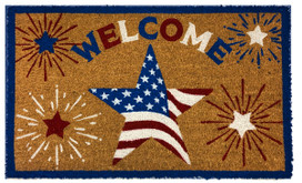 American Star Patriotic Natural Fiber Coir Doormat