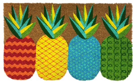 Pineapple Natural Fiber Coir Doormat
