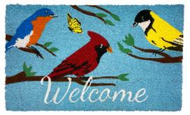 Wild Birds Spring Natural Fiber Coir Doormat
