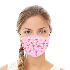 Pink Flamingo Reusable Cloth Face Mask
