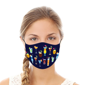 Happy Hour Reusable Cloth Face Mask