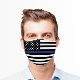 Thin Blue Line Reusable Cloth Face Mask