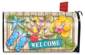 Flip Flops Beach Summer Mailbox Cover