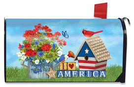 I Love America Patriotic Mailbox Cover