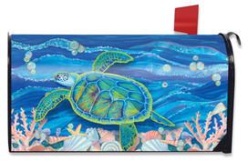 Swimming Sea Turtle Summer Mailbox Cover