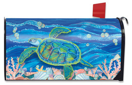 Swimming Sea Turtle Summer Mailbox Cover