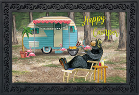 Happy Camper Bear Summer Doormat