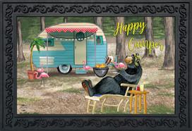 Happy Camper Bear Summer Doormat